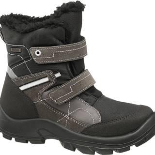 Cortina - Čierno-sivá zimná obuv s TEX membránou Cortina