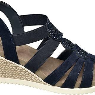 Komfortné sandále na klinovom podpätku