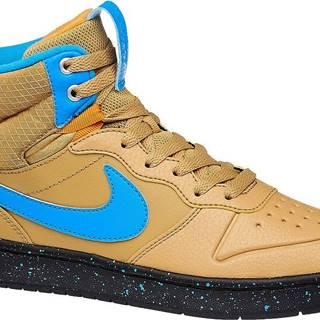 NIKE - Béžové členkové tenisky Nike Court Borough Mid