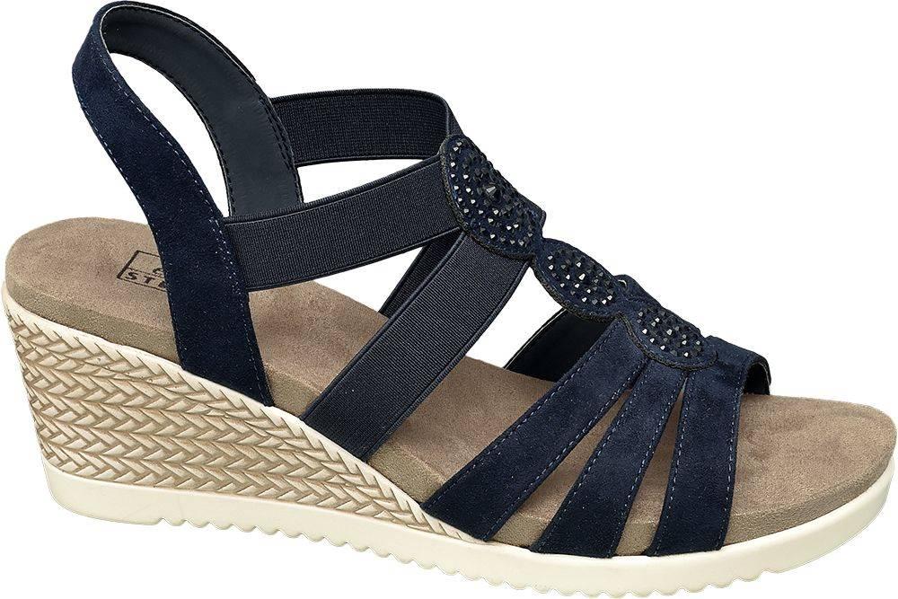 Easy Street Easy Street - Komfortné sandále na klinovom podpätku