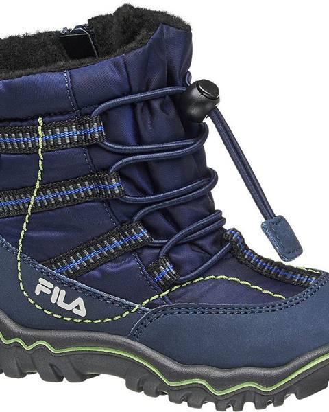 Tmavomodrá zimná obuv Fila