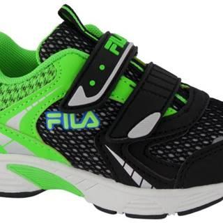 Fila - Čierno-zelené tenisky na suchý zips Fila