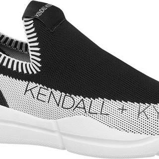Kendall + Kylie - Čierne slip-on tenisky Kendall + Kylie