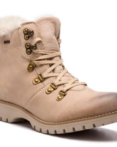 Krémové topánky Lasocki