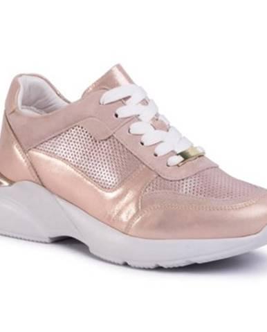 Ružové poltopánky Gino Rossi Sport
