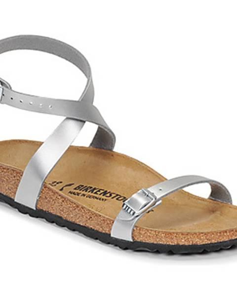 Strieborné sandále Birkenstock