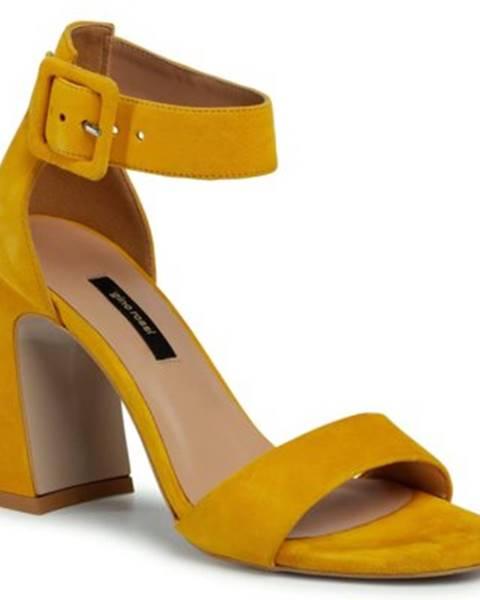 Žlté sandále Gino Rossi