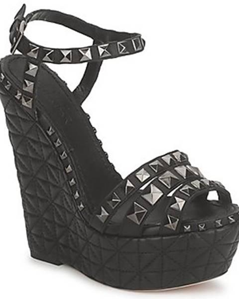 Čierne sandále Sebastian