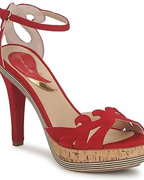Červené sandále Etro