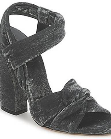 Čierne sandále Casadei