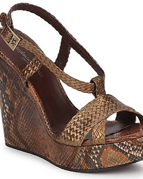 Zlaté sandále Stéphane Kelian