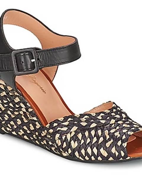 Čierne sandále Robert Clergerie