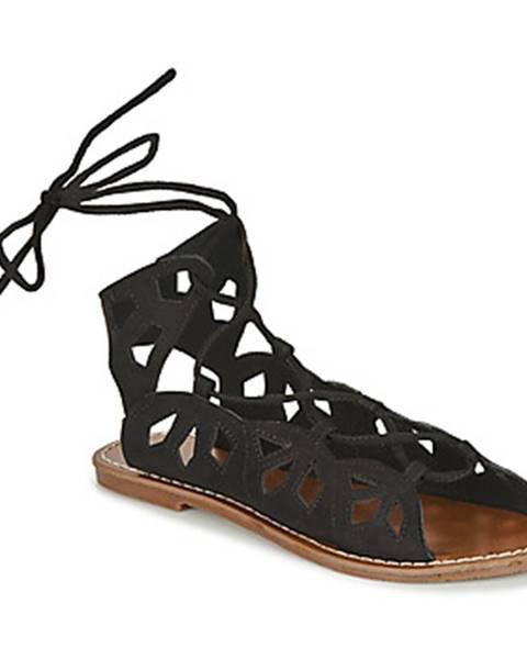 Čierne sandále Les Petites Bombes