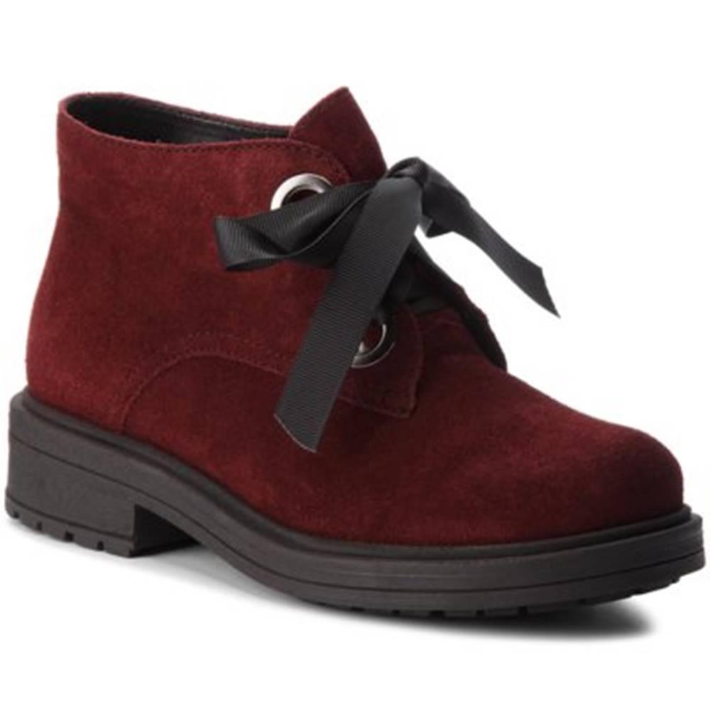 Lasocki Šnurovacia obuv Lasocki D790 koža(useň) zamšová