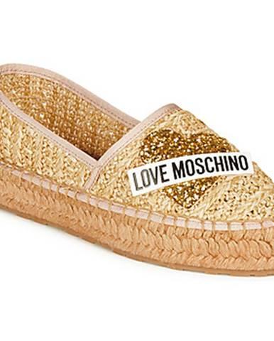 Béžové espadrilky Love Moschino