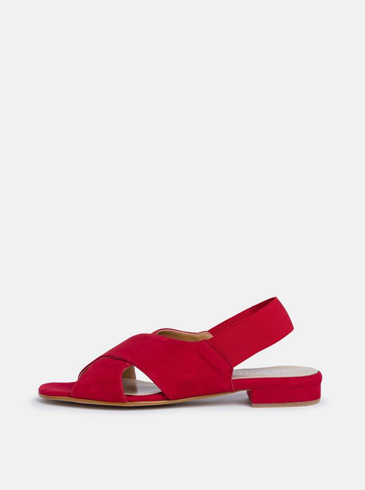 Tamaris Červené dámske semišové sandále Tamaris
