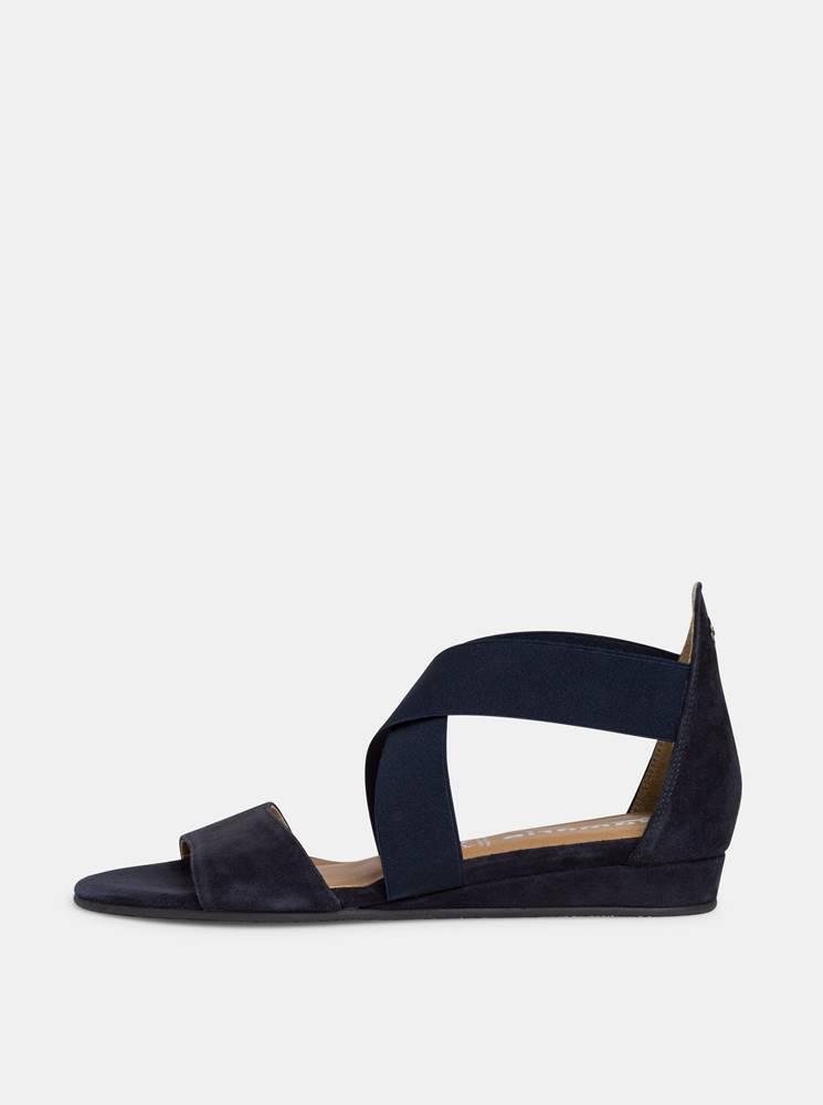 Tamaris Tmavomodré semišové sandálky Tamaris