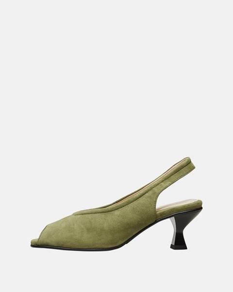 Zelené topánky Selected Femme