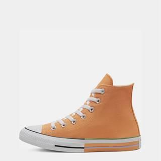 Oranžové členkové tenisky Converse Chuck Taylor All Star High Top