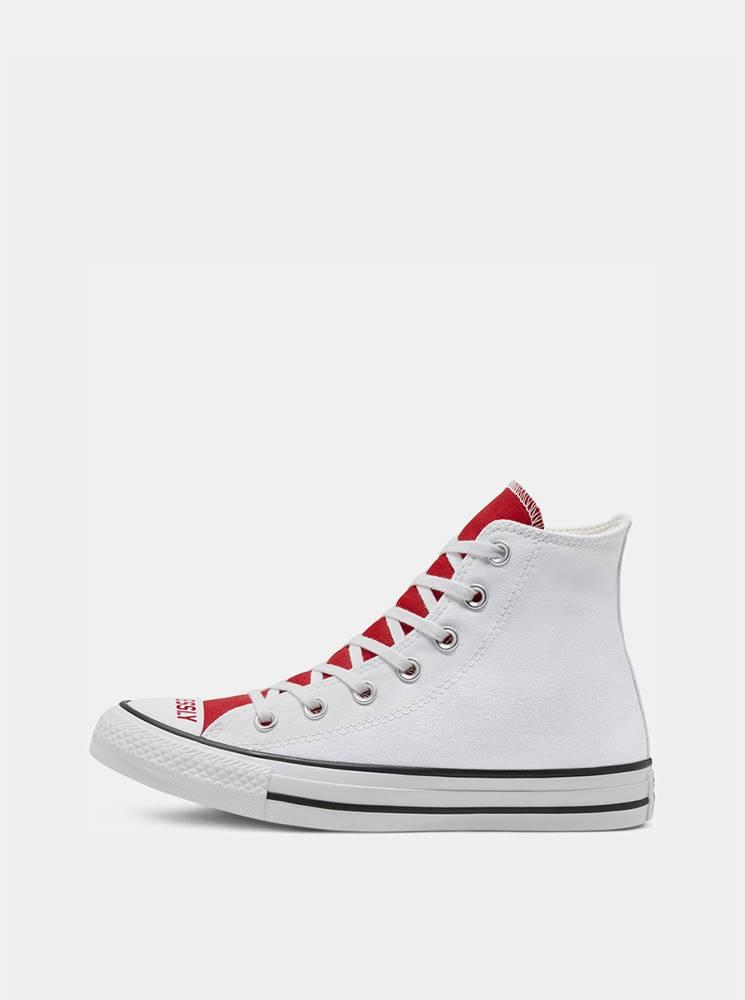 Converse Bielo-červené dámske tenisky Converse Chuck Taylor All Star