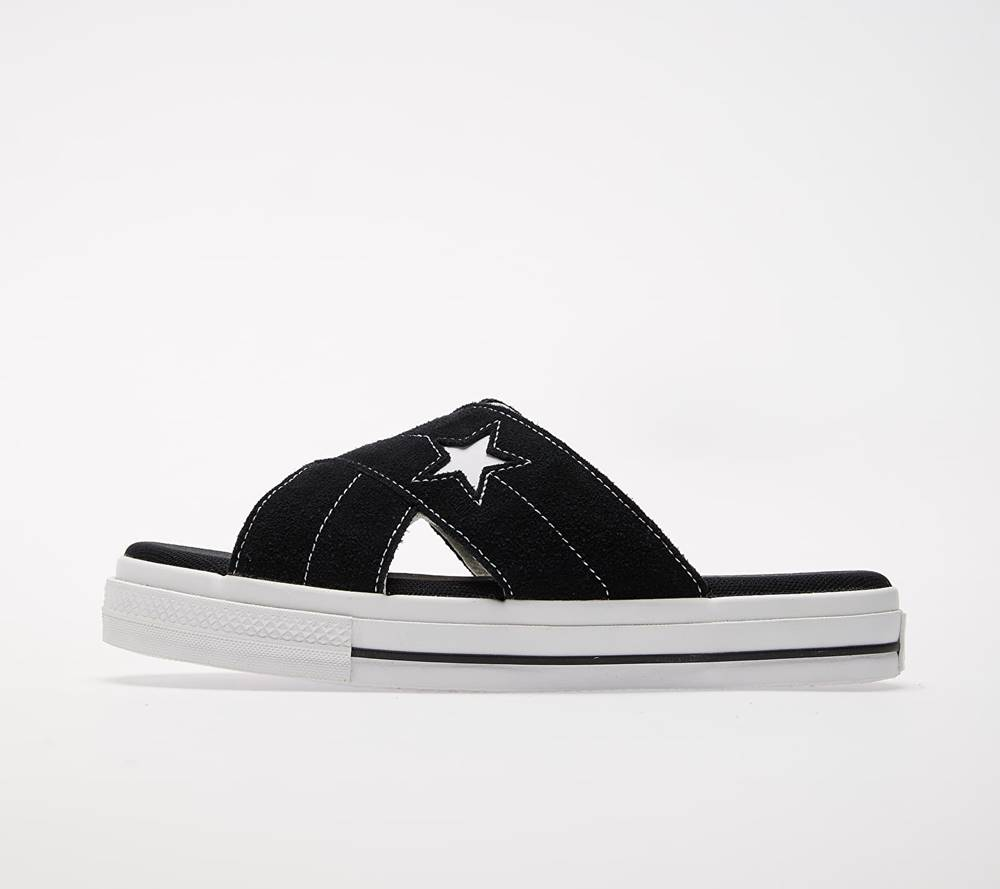 Converse Converse One Star Sandal Black/ Egret/ White
