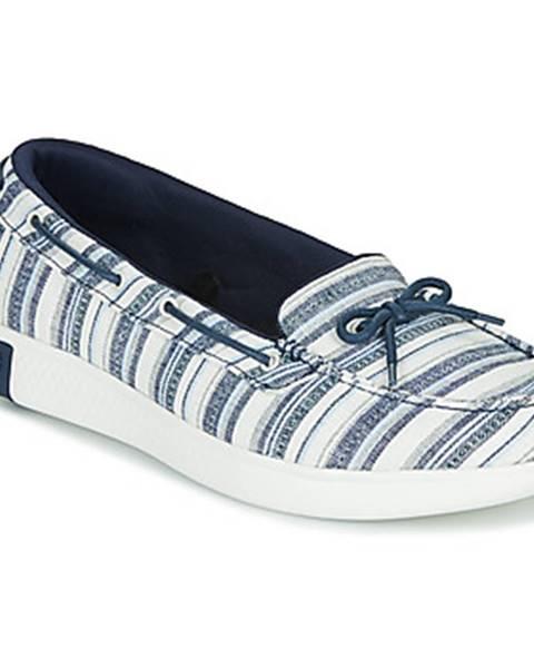 Modré balerínky Skechers