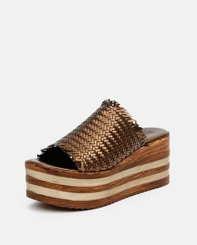 Hnedé papuče Replay