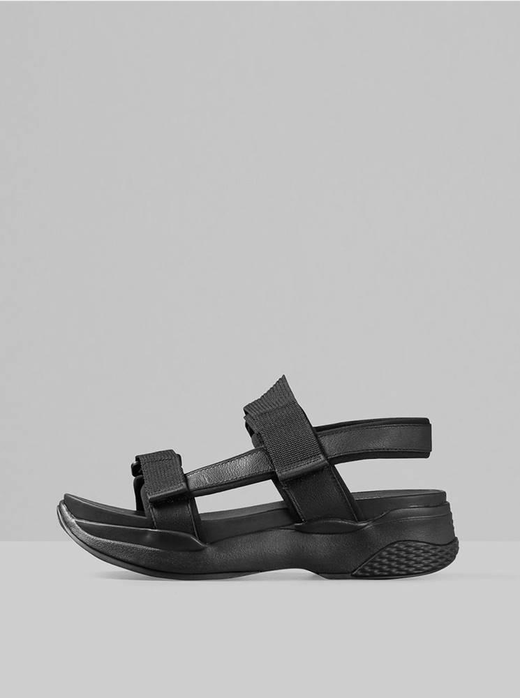 Vagabond Čierne dámske sandále na platforme Vagabond Lori
