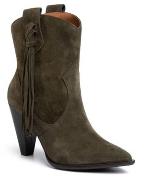 Khaki topánky Gino Rossi