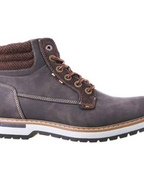 Tmavohnedé topánky Lanetti
