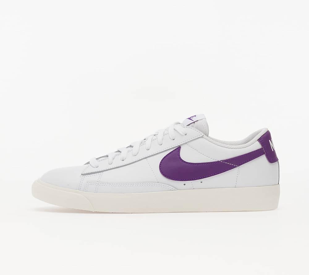 Nike Nike Blazer Low Leather White/ Voltage Purple
