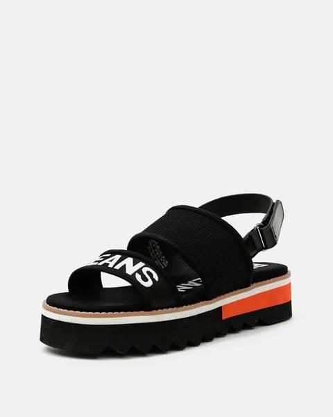 Čierne sandále Pepe jeans