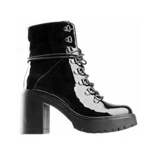 Šnurovacia obuv DeeZee WS5208-01 koža ekologická